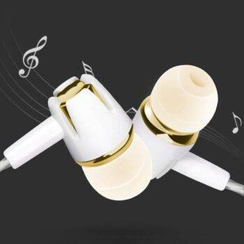 Microphone Straight-inserted In-ear Earphone Portable Line Control Sports Weatproof Subwooffer Earphones