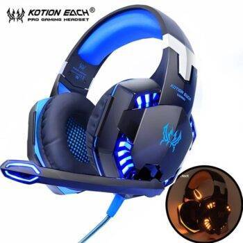 Gaming Headphones Deep Bass Stereo Wired with back lit for PS4 phone PC Laptop