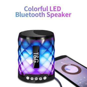 Led Bluetooth Portable Outdoor Bass Loudspeaker Wireless Mini Column Support TF card FM Stereo Hi-Fi Boxes