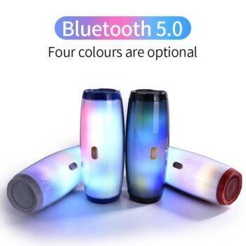 LED Bluetooth Outdoor Loudspeaker Wireless Mini Column 3D 10W Stereo Music Surround Support FM TFCard Bass Box