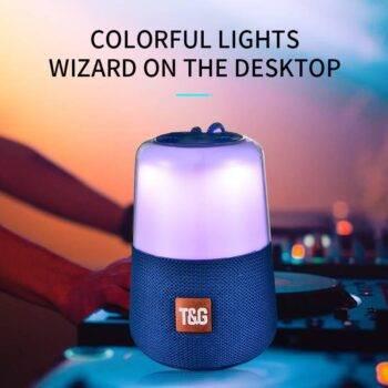 LED Breathing Light Bluetooth Speaker Loudspeakers 1200 mAh 5W Fabric Subwoofer FM Radio