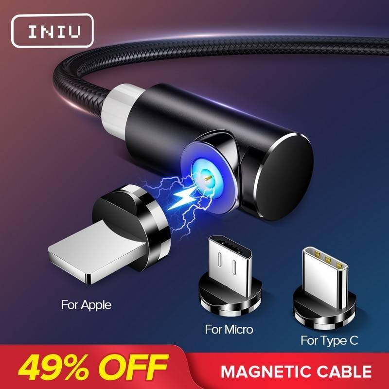 Magnetic Cable Micro USB Type C Charger For Android Phones Fast Charging Magnet Charge Wire Cord For iPhone11 Pro XS Max