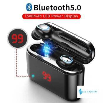 True Bluetooth 5.0 Earphone HBQ TWS Wireless Headphons Sport Handsfree Earbuds 3D Stereo Gaming Headset With Mic Charging Box