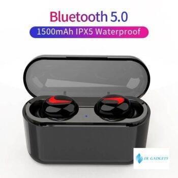 Bluetooth Earphones 5.0 HBQ Wireless Headphones Blutooth Headset Sport Earbuds Stereo Handsfree Headphone With Mic Charging Box