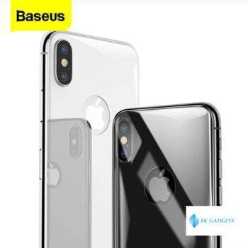 Baseus Back Screen Protector Tempered Glass For iPhone Xs Max XR Full Cover Rear Protection Toughened Glass Film For iPhoneXS