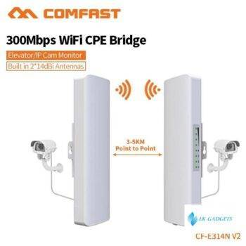 Comfast 300Mbps Outdoor Coverage Siganl booster Amplifier 2.4Ghz 14dBi High Gain Wifi Receiver For IP Camera Project CF-E314N