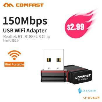 COMFAST 150Mbps MINI Wireless USB WiFi Adapter Dongle Network LAN Card 802.11n PC Receiver For MAC WindowsXP/7/8/10 Vista Linux