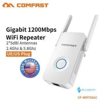 COMFAST 1200Mbps AC Wifi Repeater 5.8G Dual Band Wireless Extender Signal Amplifier AC Access Point Wifi Extender CF-WR752AC V2
