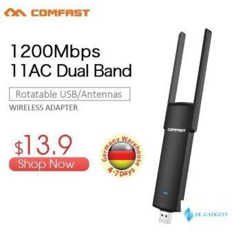 COMFAST Usb Wifi Adapter 1200mbps 2.4Ghz + 5.8Ghz Dual Band wi-fi dongle Plug And Play AC Network Card USB Wifi Antenna 926ACV2