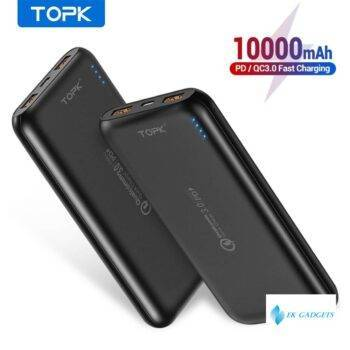 10000mAh Power Bank 18W Quick Charge 3.0 Type C PD Fast Charging Powerbank External Battery Charger for Mobile Phones