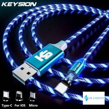 Magnetic Cable Flowing Light LED Micro USB Cable for Samsung Type C Charging for Xiaomi for iPhone Magnet Charger Cord