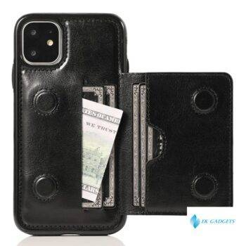 Leather Wallet Case for iPhone 11 Pro Max X XS Max XR 6 6s 7 8 Plus 5 5S SE Bag with Credit Card Holder Durable Shockproof Cover