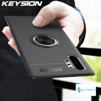 Ring Holder Phone Case For Samsung Galaxy Note 10 10 Pro 9 Magnetic Car Stand Soft Silicone Matte Cover For S10 5G S9 S8