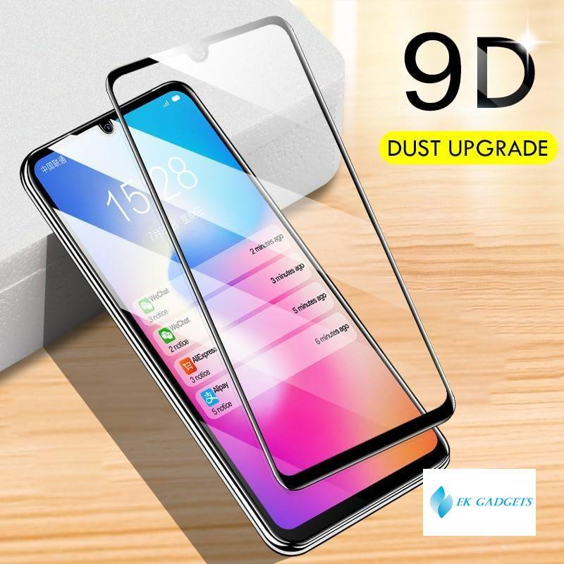 KEYSION Full glue Tempered Glass for Samsung Galaxy A50 A70 A40 A30 A20 A10 Screen Protective Film for Samsung A50s A30s M20 A80