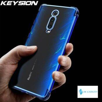 KEYSION Plating Shockproof Case for Redmi K20 K20 Pro K30 Note 8 Anti-knock Clear Back Phone Cover for Xiaomi Mi 9T Mi 9 Lite