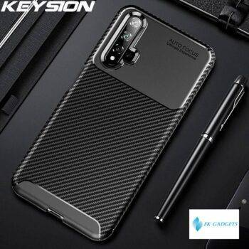 Shockproof Case for Huawei Nova 5T Matte Carbon Fiber Silicone Bumper Flex Phone Cover for Huawei Honor 20 20S 20 Pro