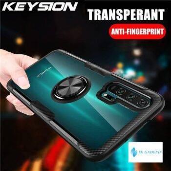 Transparent Ring Case For Honor 20 Pro 10i 10 Lite 8X Nova 5T 4e Shockproof Phone Cover for Huawei P40 Pro P30 Lite P20