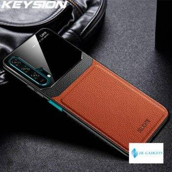 Leather Case for Huawei Mate 30 20 Pro P30 P20 Lite P Smart Y7 Y9 2019 Glass Phone Back Cover For Honor 20 Pro 10i 8X 9X