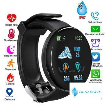 Smart Watch Blood Pressure Measurement Fitness Tracker Heart Rate