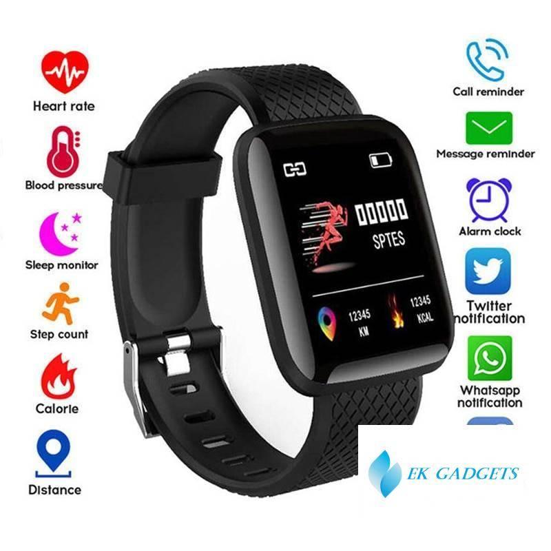 116 Plus Smart Watch Health Wristband Sports watch Blood Pressure Heart Rate Pedometer Fitness Tracker Smart Bracelet Waterproof