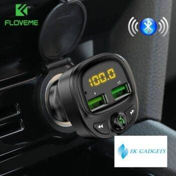 3.4A Fast Car Charger Fm Transmitter Bluetooth Dual USB Mobile Car Phone Charger Fast Charging MP3 TF Card Music Car Kit
