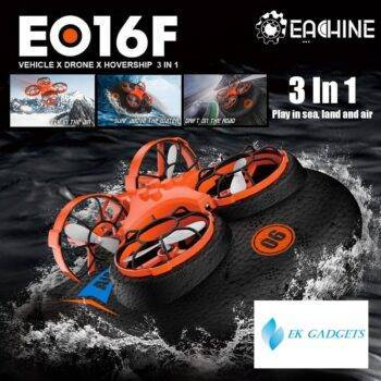 Eachine E016F 3-in-1 EPP Flying Air Boat Land Driving Mode Detachable RC Drone Quadcopter