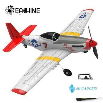 Eachine Mini P-51D EPP 400mm Wingspan 2.4G 6-Axis Electric RC Airplane Trainer 14mins Fight Time Fixed Wing RTF for Beginner