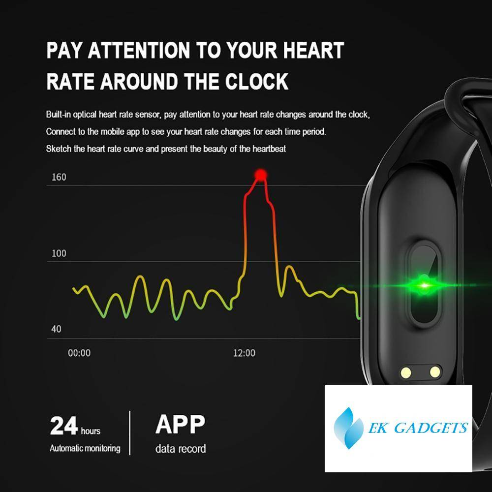 M4 Smart Band Fitness Trcker Sport Bracelet Pedometer Heart Rate Blood Pressure Bluetooth Health Wirstband Waterproof Smartband