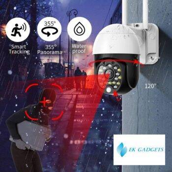SDETER 1080P Security WIFI Camera Outdoor PTZ Speed Dome Wireless CCTV IP Camera Pan Tilt 4X Zoom Audio IR Surveillance P2P CAM