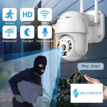 SDETER Security Camera WIFI 1080P Outdoor PTZ Speed Dome Wireless IP Camera CCTV Pan Tilt 4XZoom IR Surveillance Motion Alarm