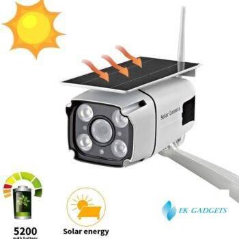 SDETER Solar Powered Security Camera IP 1080P Wireless WiFi Battery CCTV Camera Outdoor Radar Motion Detection Night Vision P2P